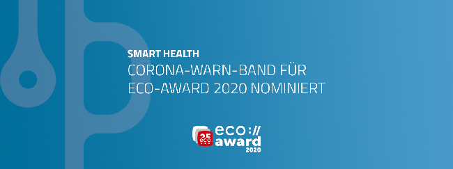 Corona-Warn-Band für eco-Award 2020 nominiert